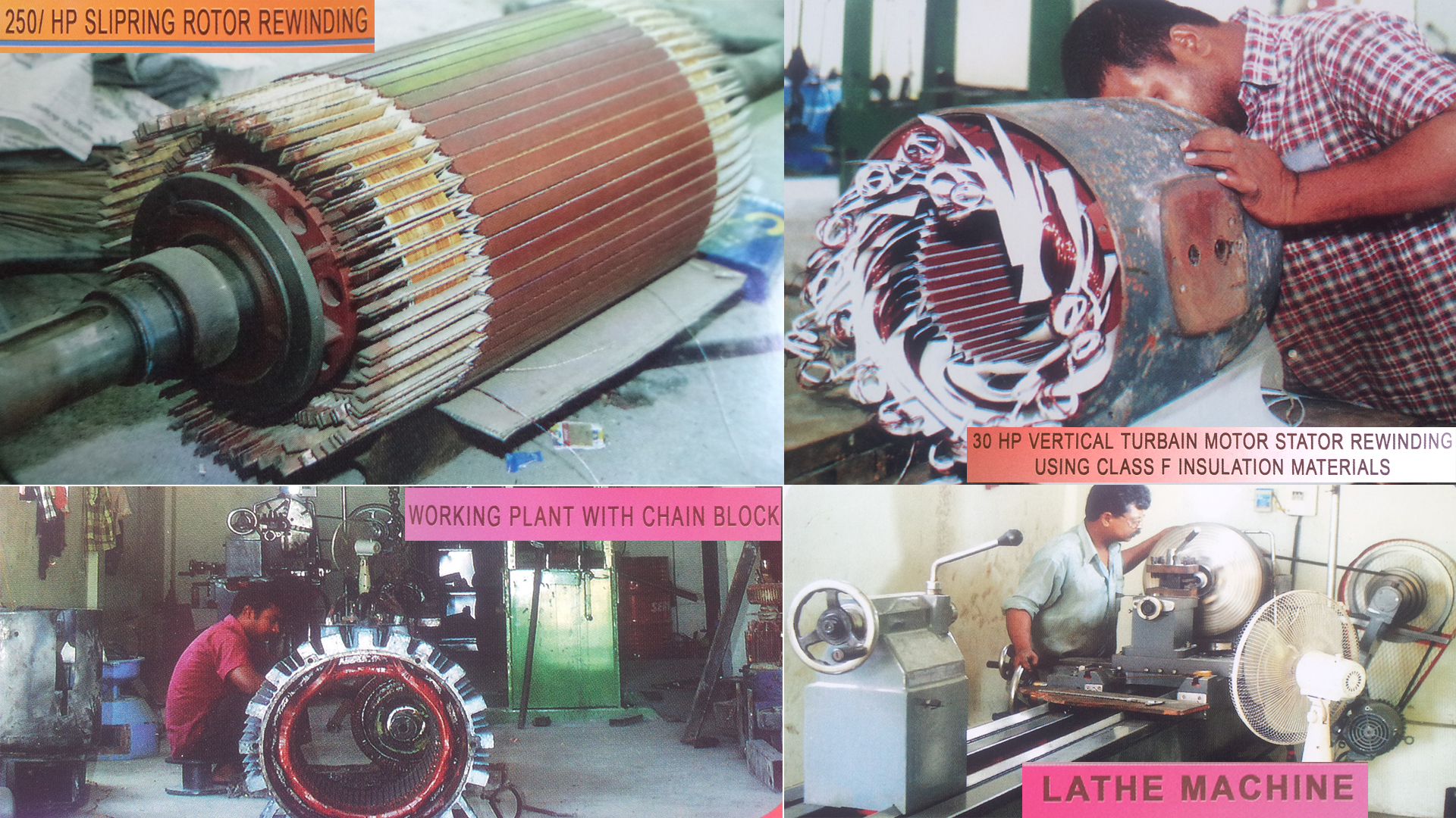 International directory fordern for Electric motor rewind prices
